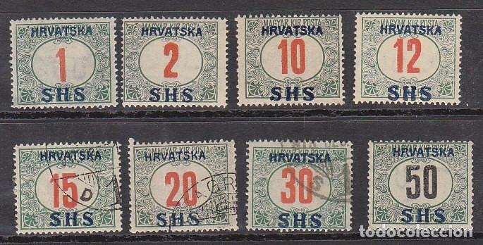 T.T.: X/O 1/7 + 8A. 1919 (Sellos - Extranjero - Europa - Yugoslavia)
