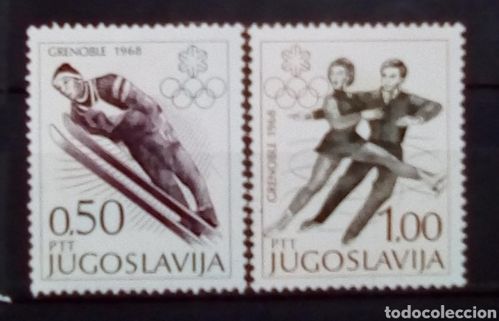YUGOSLAVIA OLIMPIADAS DE INVIERNO GRENOBLE 1968 SERIE DE SELLOS NUEVOS (Sellos - Extranjero - Europa - Yugoslavia)