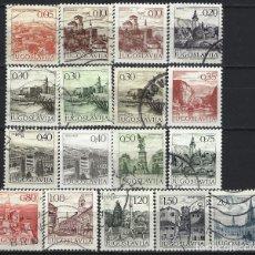 Timbres: YUGOSLAVIA 1972-82 - TURISMO, 17 VALORES - SELLOS USADOS. Lote 181872726