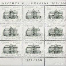 Sellos: YUGOSLAVIA 1969 SCOTT 1252 SELLO ** HB MONUMENTO EDIFICIO UNIVERZA Y LJUBLJANI YUGOSLAVIA STAMPS . Lote 183015482