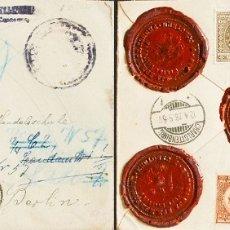 Sellos: YUGOSLAVIA. SOBRE YV 161, 163(2), 171. 1924. 2 D VERDE, 5 D CASTAÑO ROJO, DOS SELLOS Y 50 P SEPIA (. Lote 183133042
