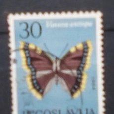 Sellos: YUGOSLAVIA MARIPOSAS SELLO USADO. Lote 183418938