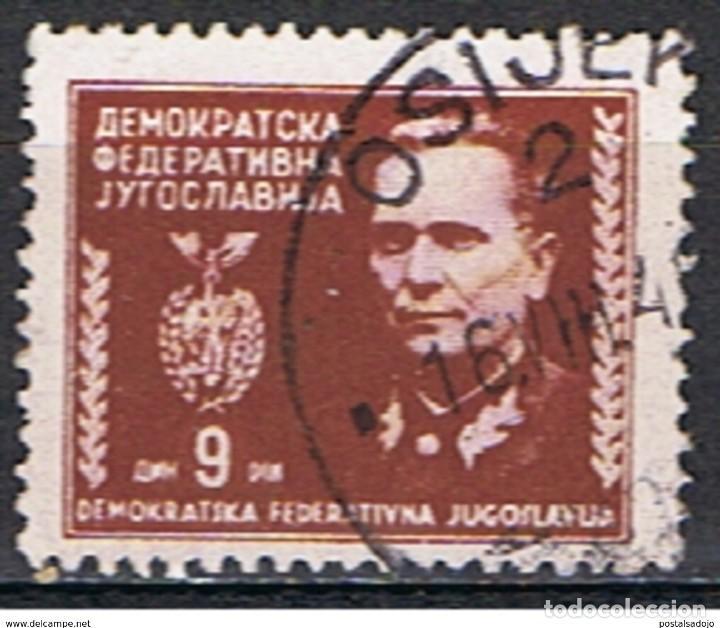 YUGOSLAVIA // YVERT 413 // 1945 ... USADO (Sellos - Extranjero - Europa - Yugoslavia)