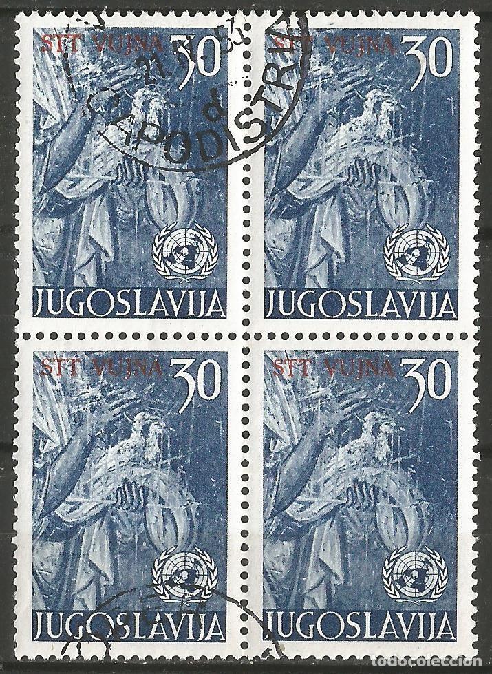 YUGOSLAVIA - STT YUJNA, ESTÁ ESCRITO EN ROJO - BLOQUE DE 4 SELLOS CON GOMA (Sellos - Extranjero - Europa - Yugoslavia)