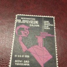 Sellos: YUGOSLAVIA NOVI SAD 1956.. Lote 194345201
