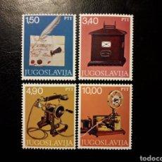 Sellos: YUGOSLAVIA. YVERT 1602/05 SERIE COMPLETA NUEVA ***. TELÉFONO, MORSE, BUZÓN.... Lote 194981705