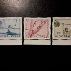 Sellos: YUGOSLAVIA. YVERT 1819/21 SERIE COMPLETA NUEVA ***. DEPORTES. HALTEROFILIA, REMO,.... Lote 194981785