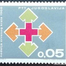 Sellos: 1966. YUGOSLAVIA. BENEFICENCIA 55. SEMANA DE LA CRUZ ROJA. SERIE COMPLETA. NUEVO.. Lote 199395782