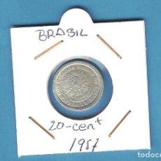 Sellos: BRASIL. 20 CENTAVOS 1957. ALUMINIO. KM#565. Lote 202107697