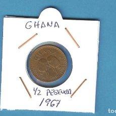 Sellos: GHANA. 1/2 PESEWA 1967. BRONE. KM#12. Lote 202110012