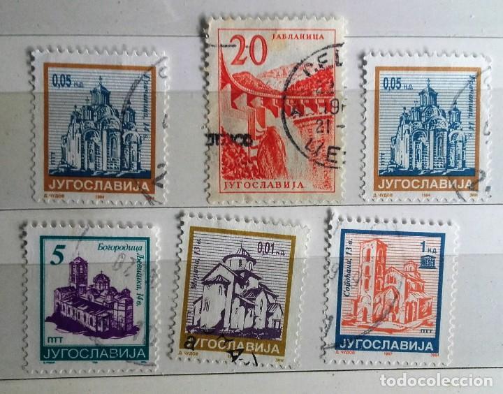 YOGOSLAVIA, LOTE SE 6 SELLOS USADOS (Sellos - Extranjero - Europa - Yugoslavia)