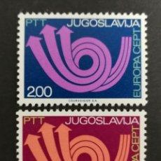Sellos: YUGOSLAVIA, EUROPA CEPT 1973 MNH (FOTOGRAFÍA REAL). Lote 204120122