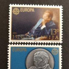 Sellos: YUGOSLAVIA, EUROPA CEPT 1980 MNH (FOTOGRAFÍA REAL). Lote 205828503