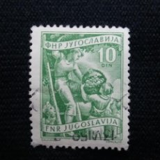 Sellos: YUGOSLAVIA, 10D, F.N.E. AÑO 1954. SIN USAR. Lote 210046712