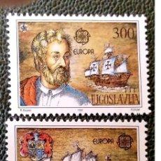 Sellos: YUGOSLAVIA. 2397/98 EUROPA-CEPT: DESCUBRIMIENTO DE AMÉRICA POR COLÓN. 1992. SELLOS NUEVOS Y NUMERACI. Lote 211261069