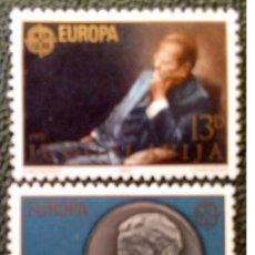 Sellos: YUGOSLAVIA. 1711/12 EUROPA-CEPT: PERSONAJE CÉBRE MARISCAL TITO Y MEDALLA. 1980. SELLOS NUEVOS Y NUME. Lote 211261217