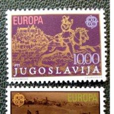 Sellos: YUGOSLAVIA. 1663/64 EUROPA-CEPT: HISTORIA DEL CORREO: CORREO A CABALLO. 1979. SELLOS NUEVOS Y NUMERA. Lote 211261232