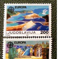 Sellos: YUGOSLAVIA. 2098/99 EUROPA-CEPT: ARQUITECTURA MODERNA: PUENTE TITO, PUENTE SOBRE EL LJUBLJANICA. 198. Lote 211261244
