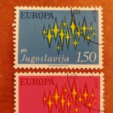 Sellos: YUGOSLAVIA, EUROPA CEPT 1972 USADA (FOTOGRAFÍA REAL). Lote 212503142