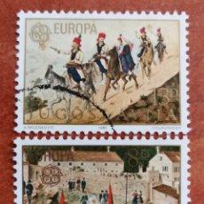 Sellos: YUGOSLAVIA, EUROPA CEPT 1981 USADA (FOTOGRAFÍA REAL). Lote 213626487