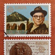 Sellos: YUGOSLAVIA, EUROPA CEPT 1983 USADA (FOTOGRAFÍA REAL). Lote 213641722