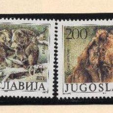 Sellos: YUGOESLAVIA SERIE MNH 1988 MICHEL 2260 A 2263 WWF. Lote 215481505
