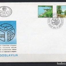 Timbres: LOTE DE 2 FDC, SOBRES DE PRIMER DÍA DE EMISIÓN DE -YUGOSLAVIA-, AÑO 1979/1980. Lote 223720247