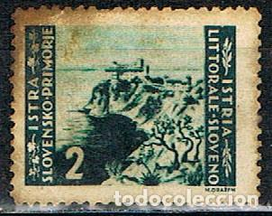 ISTRIA (OCUPACION DE YUGOESLAVIA) IVERT Nº 32, VISTA DE TRIESTE, USADO (Sellos - Extranjero - Europa - Yugoslavia)