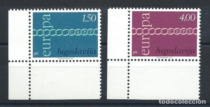 "YOUGOSLAVIE N°1301/02** (MNH) 1971 - EUROPA ""DESSINS COMMUNS""(BIS) (Sellos - Extranjero - Europa - Yugoslavia)"