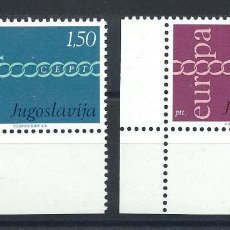 "Sellos: YOUGOSLAVIE N°1301/02** (MNH) 1971 - EUROPA ""DESSINS COMMUNS""(BIS). Lote 227803825"