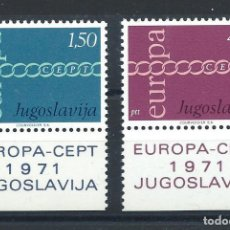 "Sellos: YOUGOSLAVIE N°1301/02** (MNH) 1971 - EUROPA ""DESSINS COMMUNS"". Lote 227803881"