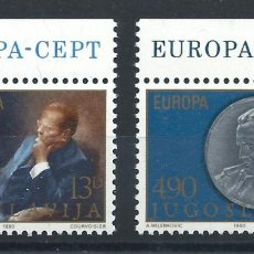 "Sellos: YOUGOSLAVIE N°1711/12** (MNH) 1980 - EUROPA ""PERSONNAGES CÉLÈBRES"". Lote 227807430"
