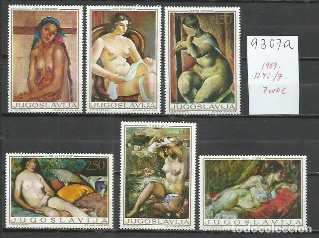 9307A-YUGOSLAVIA JUGOSLAVIA SERIE COMPLETA NUEVOS MNH**1969 1242/7 ARTE PINTURA ENVIOS COMBINADOS S (Sellos - Extranjero - Europa - Yugoslavia)