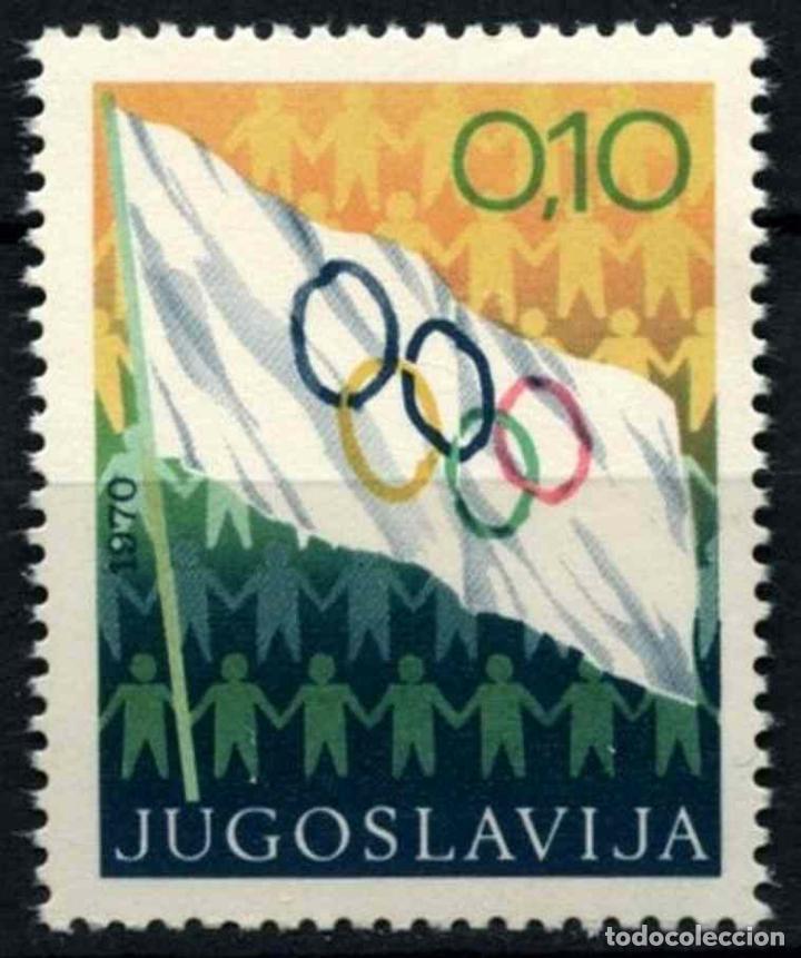 YUGOSLAVIA 1970 IVERT 1280 *** BANDERA OLIMPICA - DEPORTES (Sellos - Extranjero - Europa - Yugoslavia)