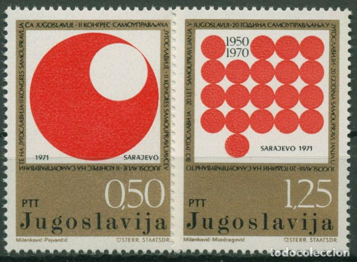 YUGOSLAVIA 1971 IVERT 1303/4 *** 2º CONGRESO DE AUTOGESTIÓN YUGOSLAVA (Sellos - Extranjero - Europa - Yugoslavia)