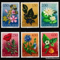 Sellos: YUGOSLAVIA 1971 IVERT 1305/10 *** FLORA - FLORES DIVERSAS. Lote 236176515