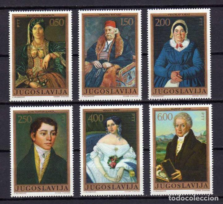 YUGOSLAVIA 1971 IVERT 1325/30 *** ARTE YUGOSLAVO A TRAVÉS DE LOS SIGLOS - PINTURA SIGLO XIX (Sellos - Extranjero - Europa - Yugoslavia)