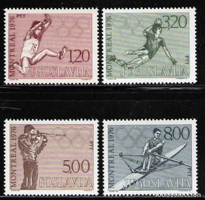YUGOSLAVIA 1976 IVERT 1548/51 *** XXI JUEGOS OLÍMPICOS DE MONTREAL - DEPORTES (Sellos - Extranjero - Europa - Yugoslavia)