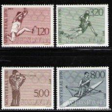 Sellos: YUGOSLAVIA 1976 IVERT 1548/51 *** XXI JUEGOS OLÍMPICOS DE MONTREAL - DEPORTES. Lote 236179205