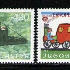 Sellos: YUGOSLAVIA 1976 IVERT 1553/4 *** 8ª REUNIÓN DE NIÑOS DE EUROPA -, DIBUJOS INFANTILES. Lote 236179850