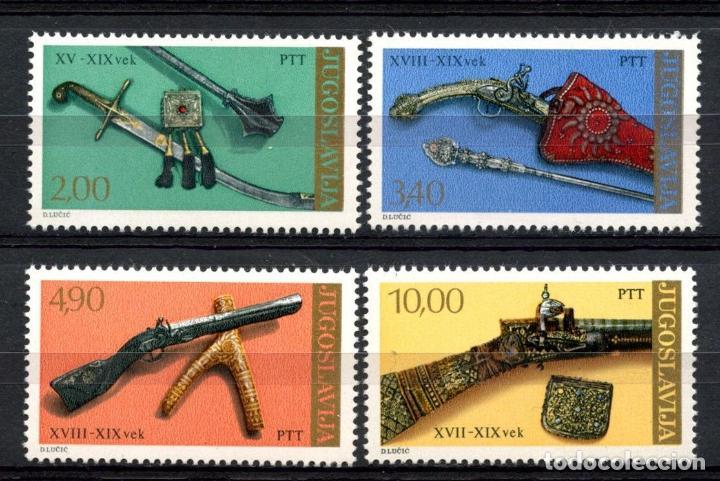 YUGOSLAVIA 1979 IVERT 1659/62 *** PIEZAS DE MUSEOS ANTIGUOS - ARMAS DE LOS SIGLOS XV AL XIX (Sellos - Extranjero - Europa - Yugoslavia)