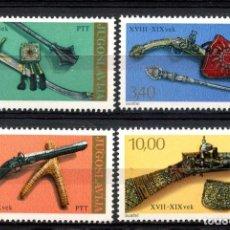 Sellos: YUGOSLAVIA 1979 IVERT 1659/62 *** PIEZAS DE MUSEOS ANTIGUOS - ARMAS DE LOS SIGLOS XV AL XIX. Lote 236183990