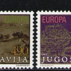 Sellos: YUGOSLAVIA 1979 IVERT 1663/4 *** EUROPA - HISTORIA POSTAL. Lote 236184365