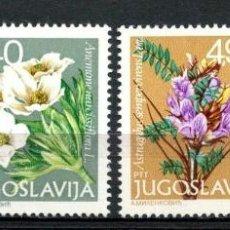 Sellos: YUGOSLAVIA 1979 IVERT 1669/72 *** FLORA - FLORES ALPINAS - DÍA DE LA JUVENTUD. Lote 236185120