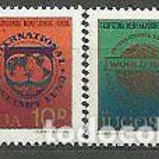 Sellos: YUGOSLAVIA 1979 IVERT 1684/5 *** 34ª ASAMBLEA DEL FONDO MONETARIO INTERNACIONAL. Lote 236188100