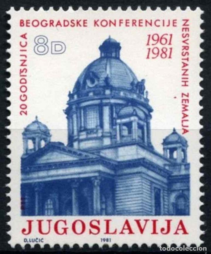 YUGOSLAVIA 1981 IVERT 1785 *** 20º ANIVERSARIO CONFERENCIA DE LOS PAÍSES NO ALINEADOS EN BELGRADO (Sellos - Extranjero - Europa - Yugoslavia)