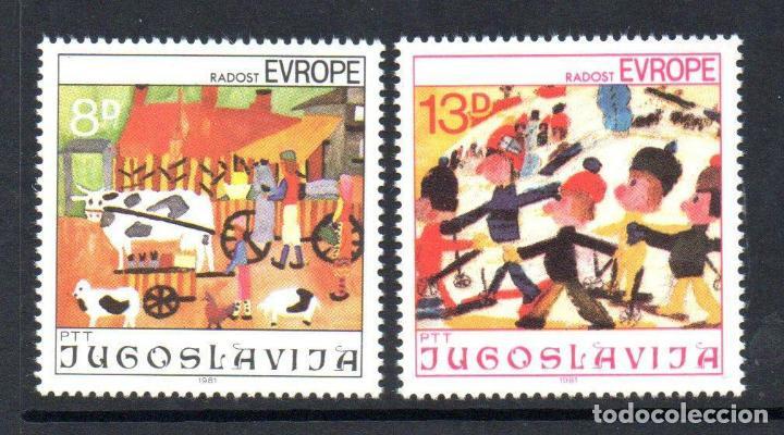 YUGOSLAVIA 1981 IVERT 1787/8 *** JUEGOS DE EUROPA - 13 REUNIÓN INFANTIL EUROPEA (Sellos - Extranjero - Europa - Yugoslavia)