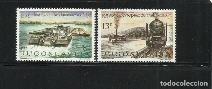 YUGOSLAVIA 1981 IVERT 1789/90 *** 125º ANIVERSARIO FUNDACIÓN DE LA COMISIÓN EUROPEA DEL DANUBIO (Sellos - Extranjero - Europa - Yugoslavia)