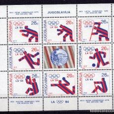 Sellos: YUGOESLAVIA, 1984, MINI-SHEET , MICHEL , 2075-2082KB. Lote 236302350