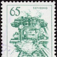 Sellos: FRANCOBOLLO - YUGOSLAVIA - COPPER ROLLING MILL IN SEVOJNO - 65 D - 1961 -USATO. Lote 237775525